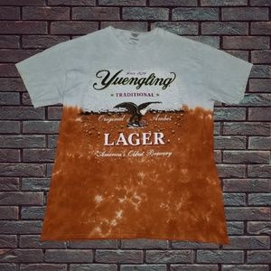 Yuengling Lager Beer Tie Dye Style Tshirt Large